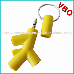Hot Sale 3.5mm 3 in 1 Tree Shape Music Sharing Headphone Splitter/Earphone Splitter pictures & photos