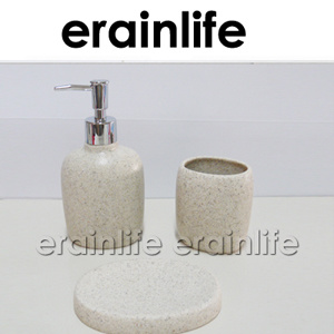 Sandstone Polyresin Bathroom Set