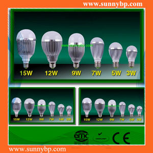 9W Aluminum Silver Shell LED Bulb Light with IEC62560 pictures & photos