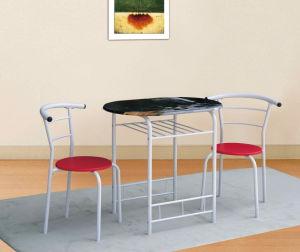 Silk Printing Table Top White Powder Coating Breakfast Set