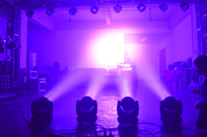 7PCS 12watt RGBW 4in1 Mini LED Moving Head (HL-010BM) pictures & photos