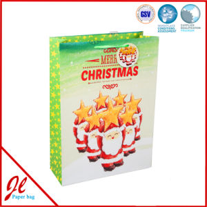 Blue Hot Stamping Paper Gift Bags Christmas Shopping Paper Bags pictures & photos
