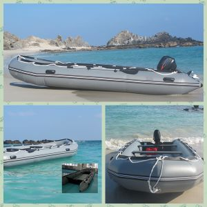 6.3m Large Size Heavy Duty Grey Inflatable Boat pictures & photos