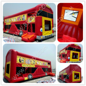 Inflatable Jungle Buss Bouncer Slide, China Inflatable Factory pictures & photos