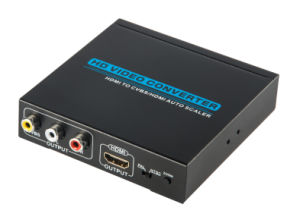 1080P HDMI to Cvbs+R/L Audio HDMI to AV Converter pictures & photos