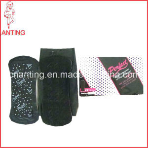 Black Sanitary Napkin, Hot Selling in Europe, Sanitary Napkin Supplier, Panty Liners pictures & photos