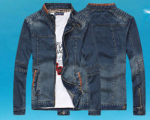 Fashion Men′s Slim Collar Clothing Denim Jacket