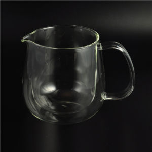 Factory Wholesale Double Wall Glass Cup with Lip pictures & photos