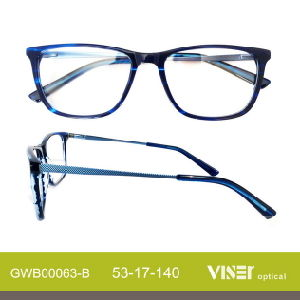 Fashion Acetate Spectacles Eye Glasses with New Design (63-A) pictures & photos