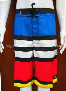 Strip Solid 4way Fabric Beachwear Board Shorts for Man pictures & photos