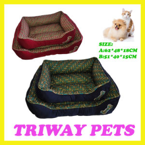 Bone Printed Style Dog Cat Pet Beds (WY161054-3A/B) pictures & photos