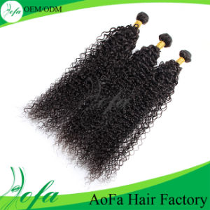 100% Natural Unprocessed Indian Remy Curly Weave Human Hair pictures & photos