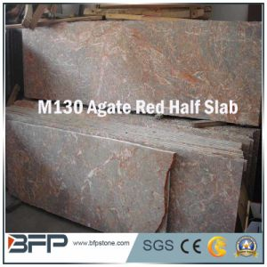 Agate Red Marble Stone Marble Half Slab for Vanity/Countertop pictures & photos