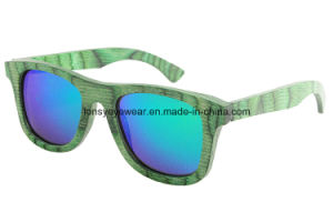 Green Technical Wood Sunglasses with Polarized Lens (LS2003-C11)