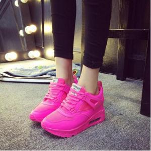 Air Cushion Mesh Shoes Casual Jogging Women Flat Shoes (AKSP3) pictures & photos