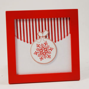 En71 ASTM Standard Hot Wooden Christmas Snowflake Shadow Box pictures & photos