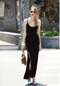 Fashion Sexy Women Slit Slip Long Dress pictures & photos