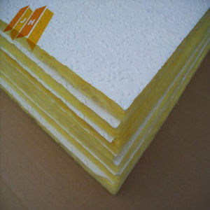 PVC Drop Heat Insulation Fiberglass Wool Ceiling Board (24-96kg/m3) pictures & photos