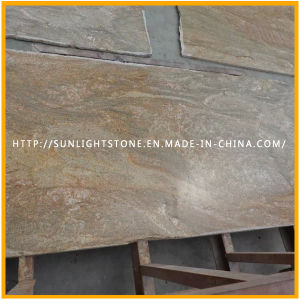 Indian Imperial Gold Granite Prefabricated Kitchen Countertops pictures & photos