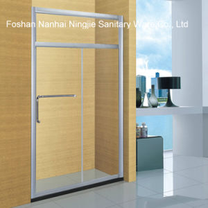 Simple Hotel Bathroom Temper Glass Shower Screen (A-8970D) pictures & photos