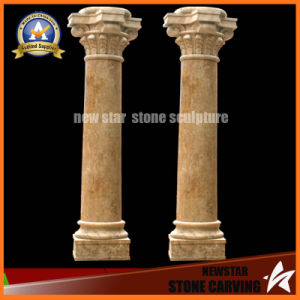 Beige Marble Stone Carving Decoration Roman Column (NS-11C11) pictures & photos
