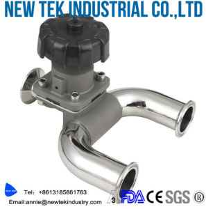 Sanitary Manual Diaphragm Valves with Tri-Clamp Ends pictures & photos
