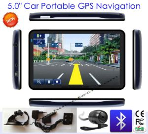 "Slim Design 5.0"" Car Truck GPS Navigation with AV-in, FM Tranmitter, Bluetooth, ISDB-T TV pictures & photos"