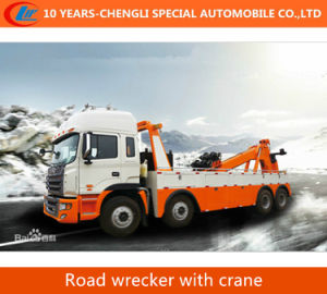 6*4 Flatbed Tow Truck with Crane Road Wrecker with Crane pictures & photos