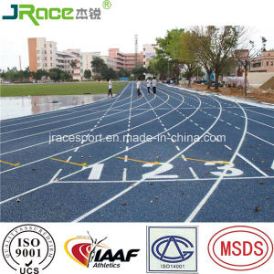 High School Running Track with Numbered Lanes pictures & photos