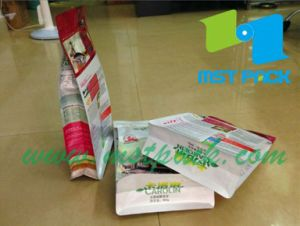 Flat Bottom Snack Food Bag with Zipper/Snack Food Pouch pictures & photos