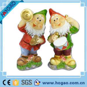 Gnome Drums and Gongs Resin Dwarf Figurine pictures & photos