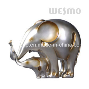 Baby Elephant and Mother Elephant Polyresin Statue (WTS0005B) pictures & photos