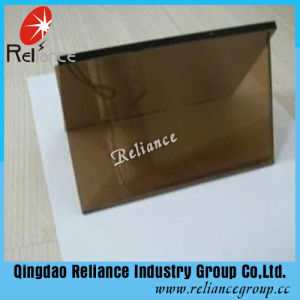 6mm Bronze Reflective Glass/Brown Reflective Glass/Window Glass with ISO pictures & photos