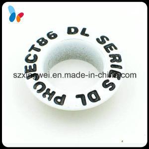 Custom Metal Brass Handbag Eyelet with Painted Black Logo pictures & photos