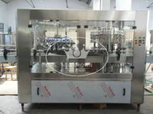 PLC Control SUS316L Soy Sauce Bottling Line with Adhesive Labeling Machine pictures & photos