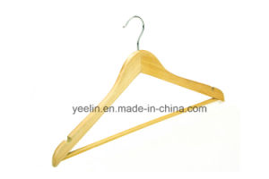 Top Wooden Clothes Hanger for Man Garment Hanger with Bar (YLWD-c0) pictures & photos