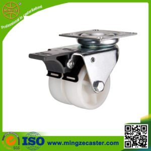 Double Nylon Wheel Furniture Casters pictures & photos