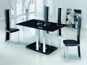 Black Color Fritted Dining Table Top Glass pictures & photos
