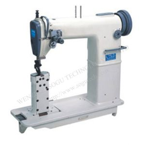 Xs0028 Double Needle Postbed Lockstitch Industrial Leather Sewing Machine pictures & photos