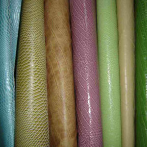 Hot Sale Fashionable Snake Grain PVC Leather for Handbags and Shoes pictures & photos