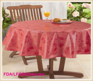 PVC Two Layer Printed Table Cover Hot Sales pictures & photos