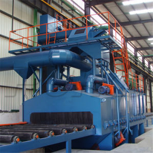 Authenticated Steel Plate Roller Conveyor Shot Blasting Machine Price pictures & photos