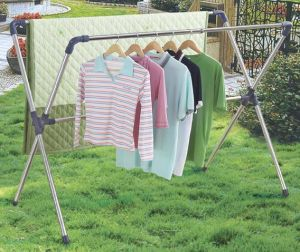 Telescopic X-Type Stainless Steel Clothes Hanger pictures & photos
