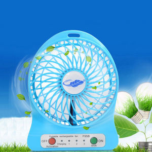 Mini USB Portable Fan Rechargeable Fan with LED Light pictures & photos