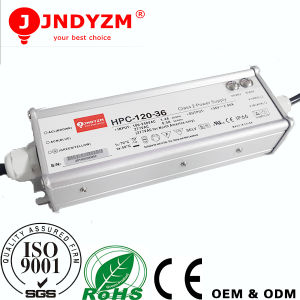 Aluminum Waterproof IP65 120W 48V LED Driver with Ce RoHS