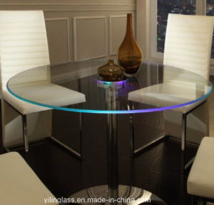 Clear Tempered Glass Dining Table pictures & photos