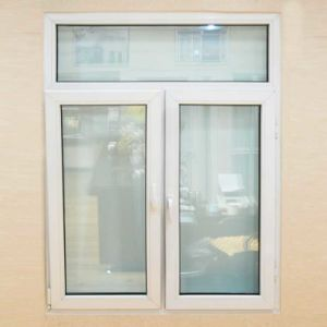 Customized White PVC Casement Window Open Outside with Double Sash