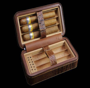 Textured Leather Cigar Humidor Case pictures & photos