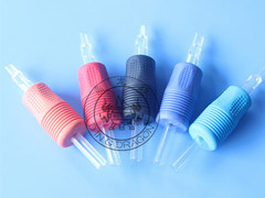 "Disposable Black/Blue/Red/Orange Rubber Grips with Transparenttip 1"" 25mm"