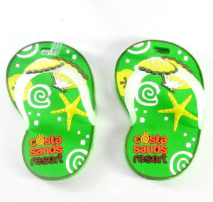 Custom Standard Size Sandals Sample Luggage Tag pictures & photos
